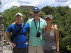 Ohio State researchers Brent Sohngen, Douglas Southgate and Lea Fortmann, in the field in Guatemala
