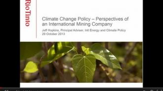 Global Climate Change Policy - Extractive Industry Impacts and Response